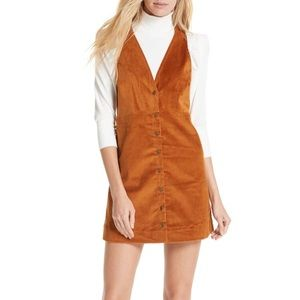 Free People Rolling Thunder Corduroy Pinafore S/M